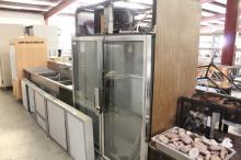 (1) Glass Front Refrigerator