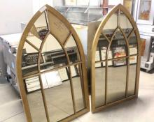 2 Bronze Color Wall Mirrors