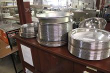 (1) Lot Of Stainless Steel Platters