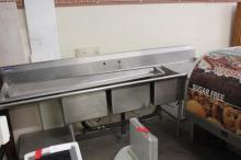 (1) Triple Bay Stainless Steel Sink