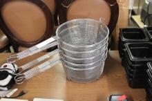 (5) Deep Fryer Baskets