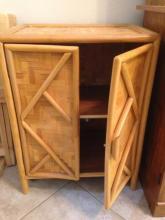 Tiki Wood 2 Door Storage Cabinet