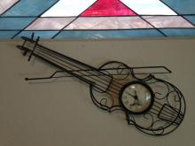 Wrought Iron Violin Clock