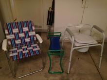 Lawn Chair, Portable Potty, Bench
