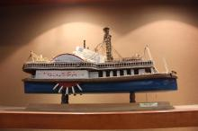 Handmade Model of Paddle Wheel Steam Boat