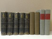 DICKENS, 9 Volumes, Charles Dickens, His  Tragedy and Triumph, Edgar Johnson, Simon &  Schuster, 1952, Vols. 1&2; Condition:  Good.   G.W.Carlton & Co., 5 Volumes, 1883: Our  Mutual Friend, Illustrated; Dombey & Son,