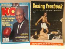 Vintage Boxing Magazines:  6 Volumes:  BOXING  & WRESTLING, 1962; BOXING DIGEST, 2003; KO,  2001; BOXING YEARBOOK, 1952; INTERNATIONAL  BOXING, 1980; Condition:  Good.