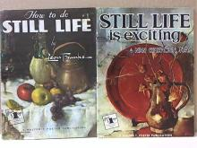 LOT OF 2 - ART INSTRUCTION - FOSTER - STILL LIFE-SOFTCOVER-OVERSIZED-ILLUS.