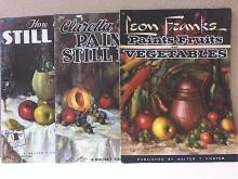 LOT OF 3 - ART INSTRUCTION - FOSTER - STILL LIFE-SOFTCOVER-OVERSIZED-ILLUS.