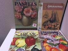 LOT OF 4 - ART INSTRUCTION - FOSTER SOFTCOVER-OVERSIZED-ILLUSTRATED