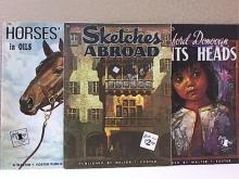 LOT OF 3 - ART INSTRUCTION - FOSTER SOFTCOVER - OVERSIZED - ILLUSTRATED