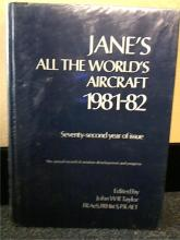 JANE'S ALL THE WORLD'S AIRCRAFT 1981-82 HC - ILLUSTRATED