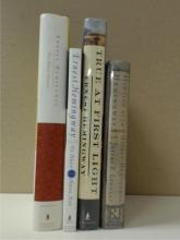 Ernest Hemingway, 4 Volumes:  THE SHORT  STORIES, dust jacket, Scribner Classics,  1997; TRUE AT FIRST LIGHT, dust jacket,  Scribner, 1999; HUNTING WITH HEMINGWAY, dust  jacket, Riverhead Books, 2000; TO HAVE AND TO