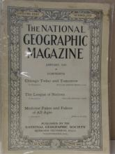 VINTAGE NATIONAL GEOGRAPHIC - 1919 January, May, August, October 1919