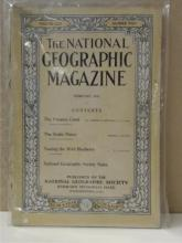 VINTAGE NATIONAL GEOGRAPHIC MAGAZINES - 5 ISSUES:  vOLUME XXII, 2, 7, 8, 10, 12
