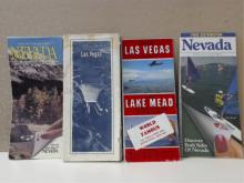 LOT OF 4 - VINTAGE NEVADA MAPS - 1990s