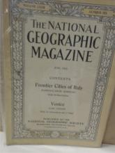 VINTAGE NATIONAL GEOGRAPHIC MAGAZINES - FIVE ISSUES