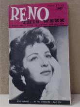 1960 RENO NEVADA THIS WEEK ADVERTISING MAGAZINE GAMBLING CASINO - Gogi Grant