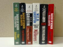 W.E.B. GRIFFIN BADGE OF HONOR NOVELS SIX  PAPERBACK BOOKS