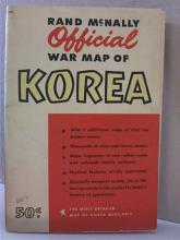 RAND McNALLY OFFICIAL WAR MAP OF KOREA -