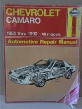 AUTOMOTIVE REPAIR MANUAL - CHEVROLET CAMARO - 1962-1992 - ALL MODELS