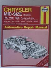 HAYNES AUTOMOTIVE REPAIR MANUAL - CHRYSLER MID-SIZE MODELS - 1982 - 1988