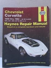 HAYNES REPAIR MANUAL - CORVETTE - 1968 THRU 1982 - ALL V-8 MODELS