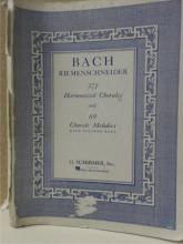 BACH RIEMENSCHNEIDER - 371 HARMONIZED CHORALES & 69 MELODIES WITH FIGURED BASS