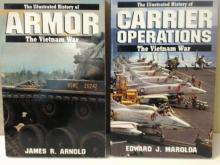 THE ILLUSTRATED HISTORY -THE VIETNAM WAR CARRIER OPERATIONS - ARMOR - 2 VOLUMES
