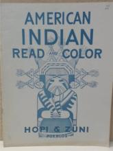 VINTAGE 1948 - AMERICAN INDIAN READ & COLOR - HOPI & ZUNI