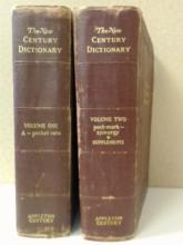 THE NEW CENTURY DICTIONARY - 2 VOLUMES - 1948 - ILLUSTRATED
