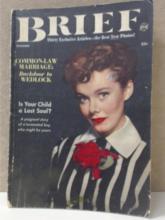 BRIEF MAGAZINE - 30 EXCLUSIVE ARTICLES VINTAGE DECEMBER 1952