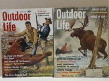 OUTDOOR LIFE - 2 ISSUES - VINTAGE 1961, 1968