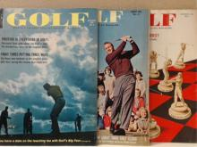 7 LOTS - GOLF MAGAZINE - 1964, 1962, 1961 - VINTAGE