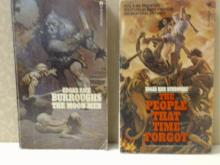 EDGAR RICE BURROUGHS, THE MOON MEN, THE PEOPLE THAT TIME FORGOT, PAPERBACK