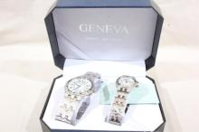 Geneva Collection His & Hers Watches - Running