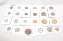 Bag of Mixed US & Foreign Coins & Tokens