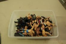 Box of WWF/WWE Action Figures