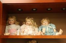 Boy & Girl Porcelain Doll Set w/Reindeer Outfit