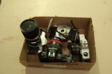 Box Lot of Misc. Collectible Cameras