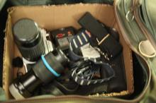 Box lot of Misc Camera Parts & Accessories