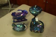 4 Pc. Carnival Glass