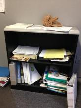 Small Grey Bookshelf