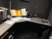 Grey L Shaped Desk