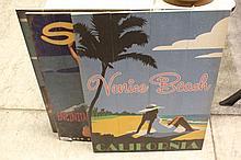 Wood California Beach Advertising