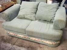 Blue Green Love Seat