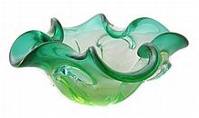 Mid Century Modern Uranium Art Glass