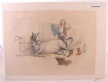 Signed Art on Paper Veterinarian, Horse, Humor