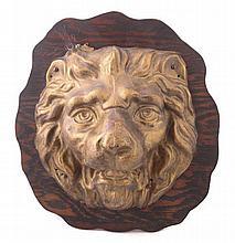 Mounted Metal Tin Leo Lion Head