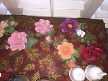 12 Capidomonte Assorted Porcelain Flowers and